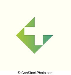 Pharmacy Logo Medicine green cross abstract design vector template. Eco bio natural Medical clinic infinity loop Logotype concept icon.
