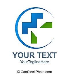 Pharmacy Logo Medicine green cross abstract design vector template