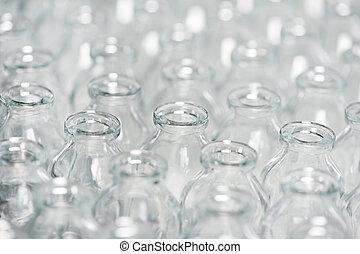 pharmacy medicine container glassware background