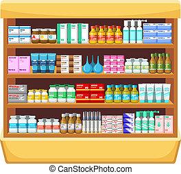 Pharmacy, medicine.Vector illustration
