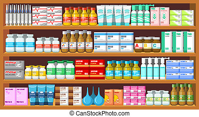 Pharmacy, medicine. Vector illustration