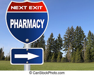 Pharmacy road sign