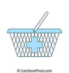 Pharmacy Shopping Cart Icon