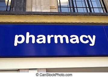 pharmacy sign - pharmacy or drug store sign