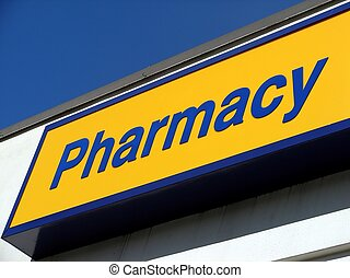 Pharmacy Sign - A pharmacy sign at a drug store.