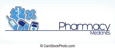 pharmacy sign vector - illustration of pharmacy sign design...