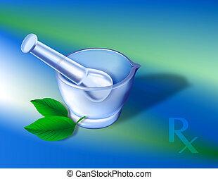 Pharmacy Symbols 1 - Digital illustration. Gradien mesh,...