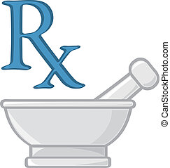 Two symbols for the profession of pharmacy.