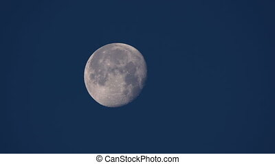 phase of the full moon, in real time moves