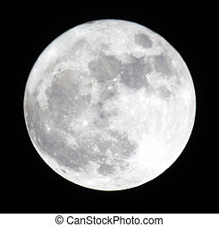 Phase of the moon, full moon. Ukraine, Donetsk region 19.03.11 Super Moon. Distance less is than 356577 km