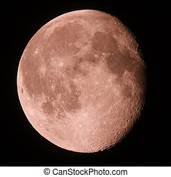 Phase of the moon on a dark sky. 15.08.11