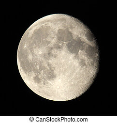 Phase of the moon on a dark sky. 18.06.11