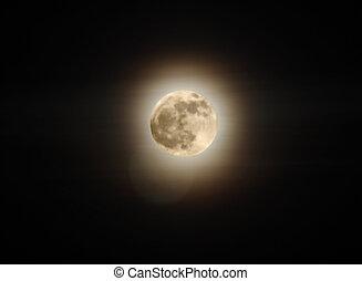 phase, von, mond, voll, moon., ukraine, donetsk, gebiet, 19.01.11