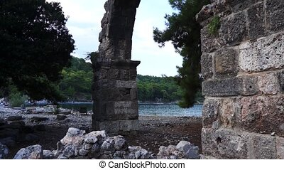 Phaselis in Turley. City of ancient Lycia. - Phaselis in...