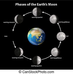 phases, earth's, lune