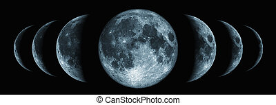 Phases of the moon changes - Seven phases of the moon...