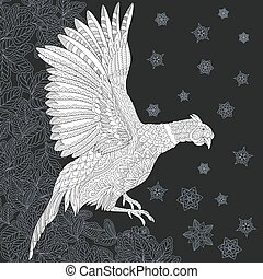 Pheasant coloring page