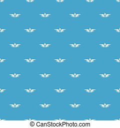 Phenix wing pattern vector seamless blue repeat for any use