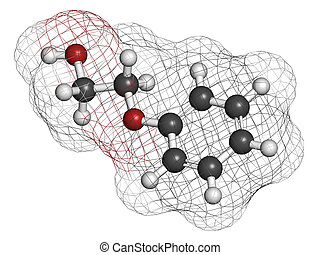 Phenoxyethanol preservative molecule. Used in cosmetics,...