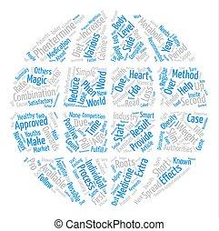 phentermine, och, hälsosam, viktförlust, text, bakgrund, ord, moln, begrepp