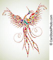pheonix, printemps, oiseau, texture