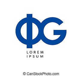 Phi and G Logo Design