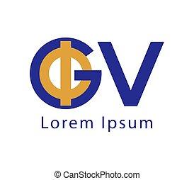 Phi and GV Logo Design - Phi and GV Logo Concept Design