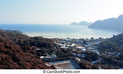 Phi Phi Don from viewpoint number one, Phuket province, ...