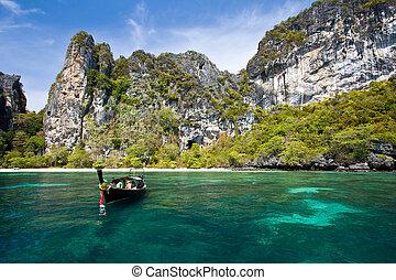 Phi Phi Island Phuket Andaman Thailand - Snokeling Point at...