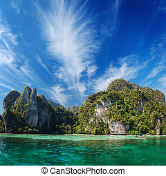 Phi Phi island. Thailand, Phuket. - Phi Phi island in the...