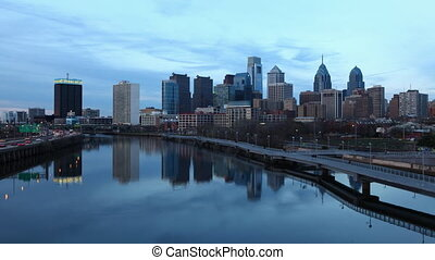 Philadelphia , a day to night