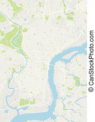Philadelphia colored vector map
