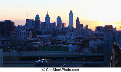 Philadelphia from Franklin Bridge