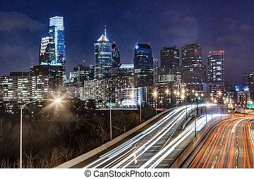 Philadelphia Night Skyline
