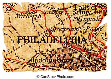 Philadelphia old map