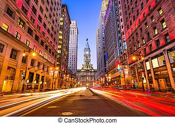 Philadelphia on Broad Street - Philadelphia, Pennsylvania,...