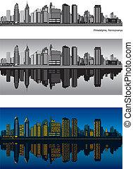 Philadelphia Pennsylvania skyline - Philadelphia skyline ...