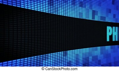 PHILADELPHIA side Text Scrolling LED Wall Pannel Display...