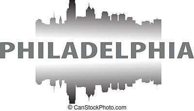 City of Philadelphia high-rise buildings skyline