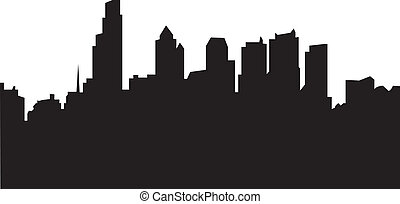 philadelphia skyline with reflection in water vector illustration rh canstockphoto com