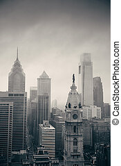 philadelphia, stad, taktopp