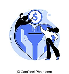 Philanthropy abstract concept vector illustration.