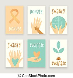 Philanthropy design, vector donation concept, charity...