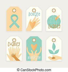 Philanthropy design, vector donation concept, charity tag.