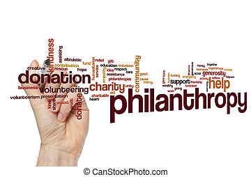 philantropy, mot, nuage