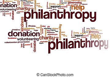philantropy, nuage, mot