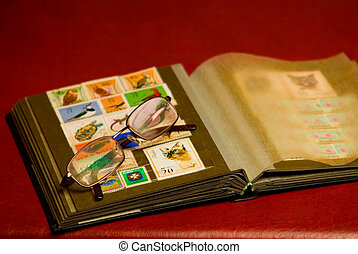 philately 3 - Albums for the collection of old postal stamps