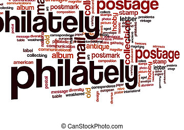 Philately word cloud