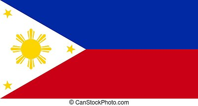 Philippine flag vector illustration Official symbol of the country
