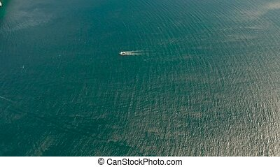Philippine motor boat on the water surface